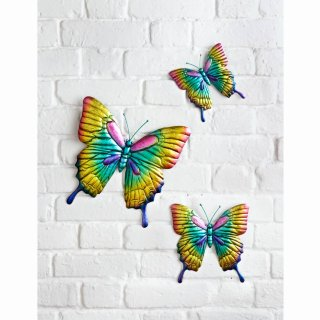 Butterflies Wall Art 3pk - Blue