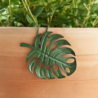 Tropical Leaf Pot Hooks 3pk - Green