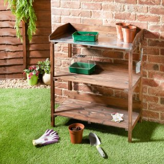 3 Tier Burntwood Potting Bench