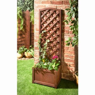 Lattice Wooden Planter