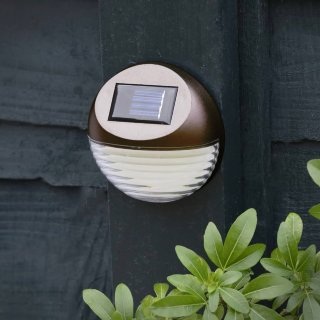 Solar Powered Fence Light - Bronze