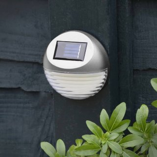 Solar Powered Fence Light - Silver