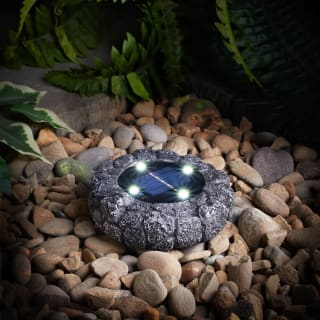 Stone Effect Ground Solar Light - Dark Grey