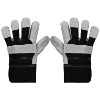 Rolson Heavy Duty Suede Gardening Gloves - Large - Black