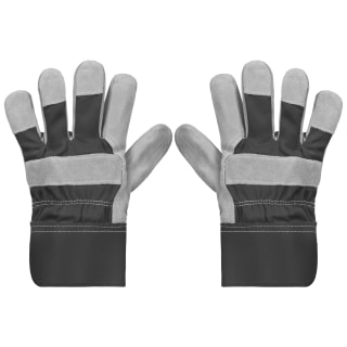 Rolson Heavy Duty Suede Gardening Gloves - Large - Grey