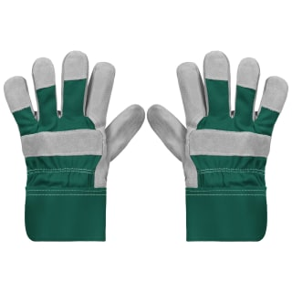 Rolson Heavy Duty Suede Gardening Gloves - Medium - Green