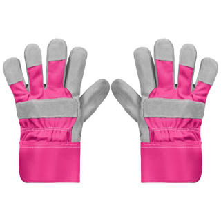 Rolson Heavy Duty Suede Gardening Gloves - Medium - Pink