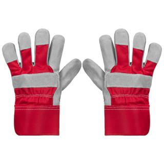 Rolson Heavy Duty Suede Gardening Gloves - Medium - Red