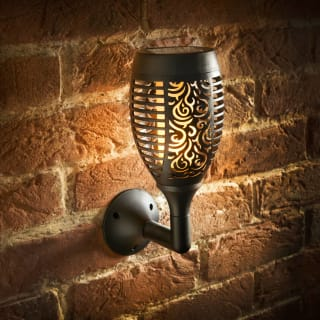 Morocco Flame Effect Solar Wall Light