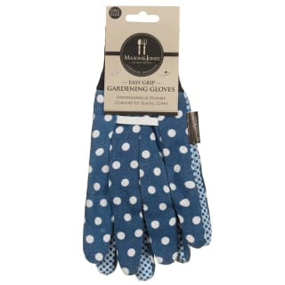 Mason & Jones Easy Grip Gardening Gloves - Polka Blue