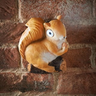 Solar Powered Squirrel Ornament - Orange