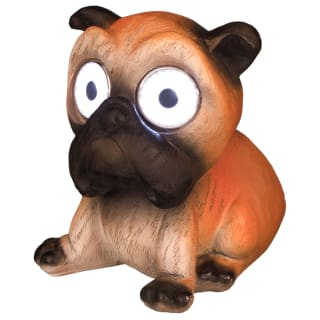 Solar Rustic Big Eye Animal Light - Dog