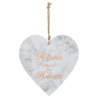 Marble Heart Plaque - Home Sweet Home