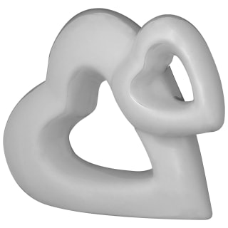 Mini Ceramic Heart Decoration - Grey