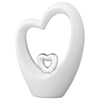 Ceramic Heart Decoration - White