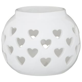 Ceramic Candle Holder - White