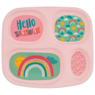 4 Section Melamine Kids Plate - Hello Sunshine