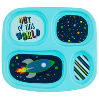 4 Section Melamine Kids Plate - Out of This World