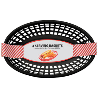 Food Serving Baskets 4pk - Black
