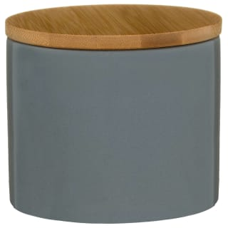 Bamboo Lid Canister - Grey