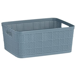 Rattan Effect Small Storage Basket - Duck Egg