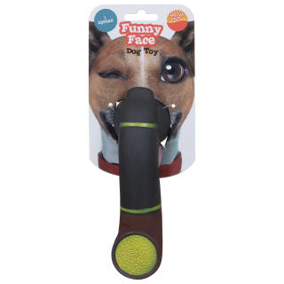 Funny Face Dog Toy - Pipe