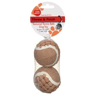 Textured Tennis Balls 2pk - Brown
