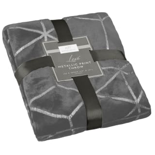 Karina Bailey Lexi Metallic Print Throw - Silver