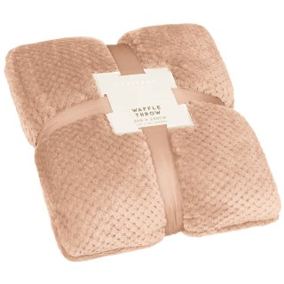 Oversized Waffle Throw - Blush