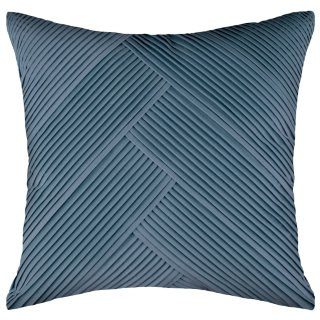 Nordic Pleated Velvet Cushion - Blue