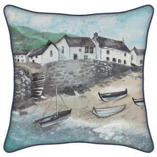 Nordic Beach Scene Cushion