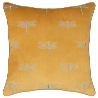 Paradise Dragonfly Cushion - Ochre