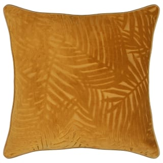 Velvet Leaf Cushion - Ochre