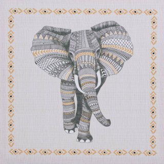 Tribal Canvas Print - Elephant
