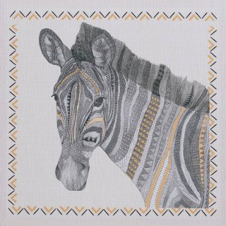 Tribal Canvas Print - Zebra