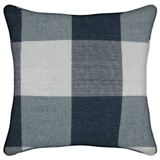 Nordic Check Woven Cushion - Blue