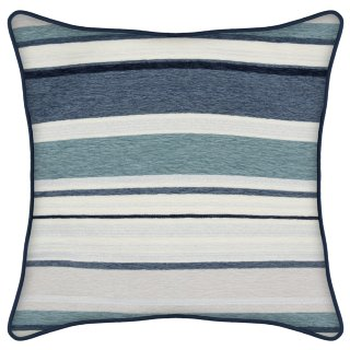 Nordic Chenille Stripe Cushion - Blue