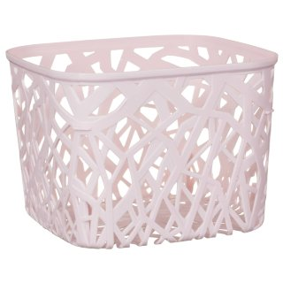 Square Geo Cut Out Storage Basket - Blush