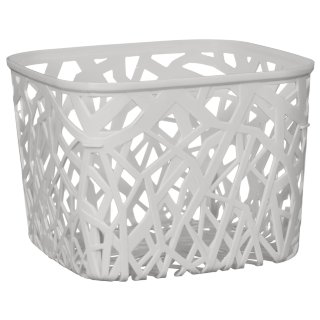 Square Geo Cut Out Storage Basket - Grey
