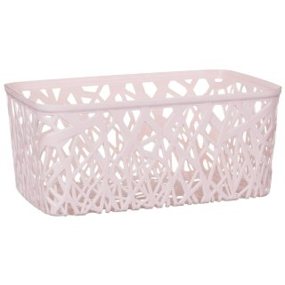 Rectangle Geo Cut Out Storage Basket - Blush