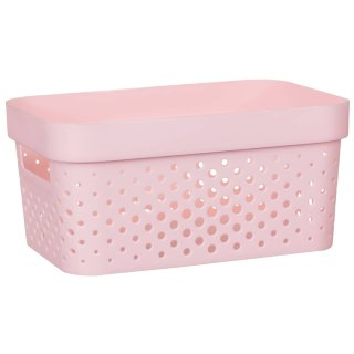 Rectangle Small Spot Storage Basket - Blush