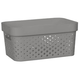 Rectangle Small Spot Storage Basket - Charcoal