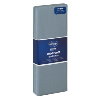 Silentnight Supersoft Single Sheet - Blue Plain Dye