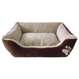 Square Pet Dog Bed - Brown