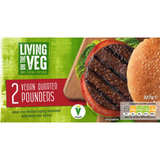 Living on the Veg Vegan Quarter Pounders 2pk