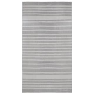 Oversized Jacquard Beach Towel - Grey Stripe