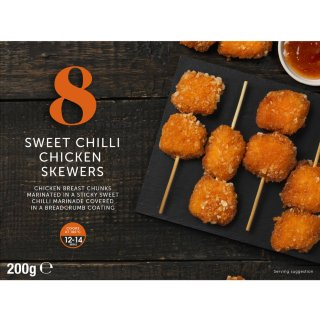 8 Sweet Chilli Chicken Skewers 200g