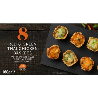 8 Red & Green Thai Chicken Baskets 160g