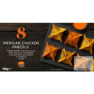 8 Mexican Chicken Parcels 160g