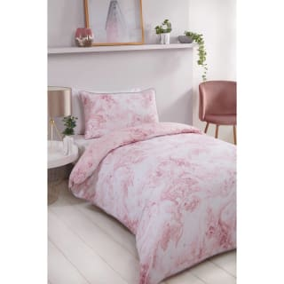 Loft Studio Marble Single Duvet Set - Blush